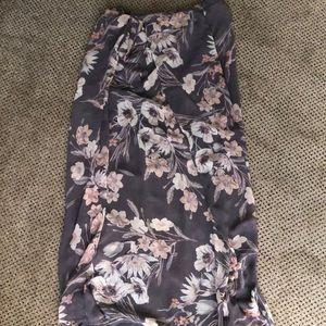 Xhilaration wrap maxi skirt